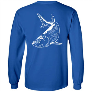 Tarpon Design Long Sleeve Ultra Cotton T-Shirt - 3 Colors - T-Shirts