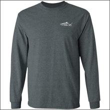 Load image into Gallery viewer, Tarpon Design Long Sleeve Ultra Cotton T-Shirt - 3 Colors - Dark Heather / M - T-Shirts