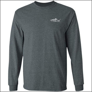 Tarpon Design Long Sleeve Ultra Cotton T-Shirt - 3 Colors - Dark Heather / M - T-Shirts