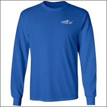 Load image into Gallery viewer, Tarpon Design Long Sleeve Ultra Cotton T-Shirt - 3 Colors - Royal / M - T-Shirts