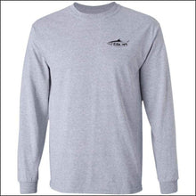 Load image into Gallery viewer, Tarpon Design Long Sleeve Ultra Cotton T-Shirt - 3 Colors - Sport Grey / M - T-Shirts