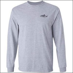 Tarpon Design Long Sleeve Ultra Cotton T-Shirt - 3 Colors - Sport Grey / M - T-Shirts