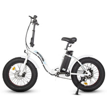 Fat Tire Electric Bike - Ecotric Dolphin Folding Electric Bike - 36V 500W (Black / White)