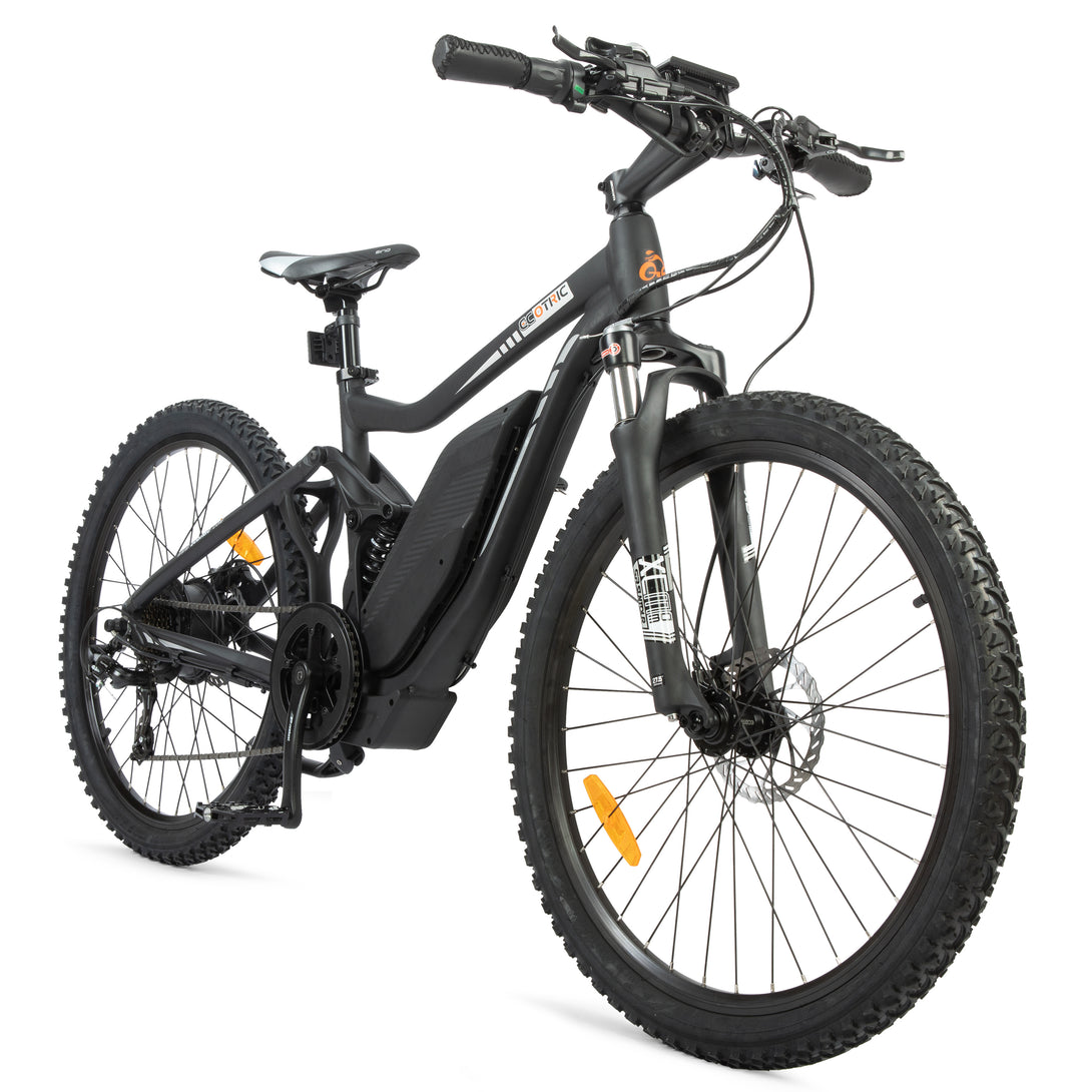 Electric Mountain Bike Ecotric Tornado with Full Suspension 750W