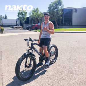 Electric Bike Fat Tire Nakto Super Cruiser 500W 48V 12Ah - superceb001