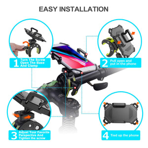 Universal Handlebar Rack With 360° Rotation Adjustable Anti Shake