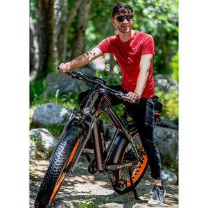 Fat Tires Electric Bike Addmotor MOTAN M-560 P7 750W Front Suspension