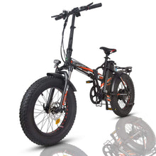 Ecotric 48V Fat Tire Portable and Folding Electric Bike with color LCD display - FAT20850C