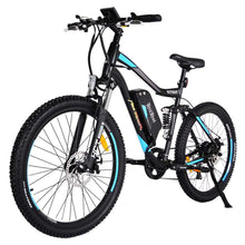 Electric Mountain Bike Addmotor Hithot H1 500W - Dual Suspension - Blue - Electric Bike $1699.00