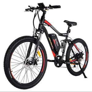 Electric Mountain Bike Addmotor Hithot H1 500W - Dual Suspension - Orange - Electric Bike $1699.00