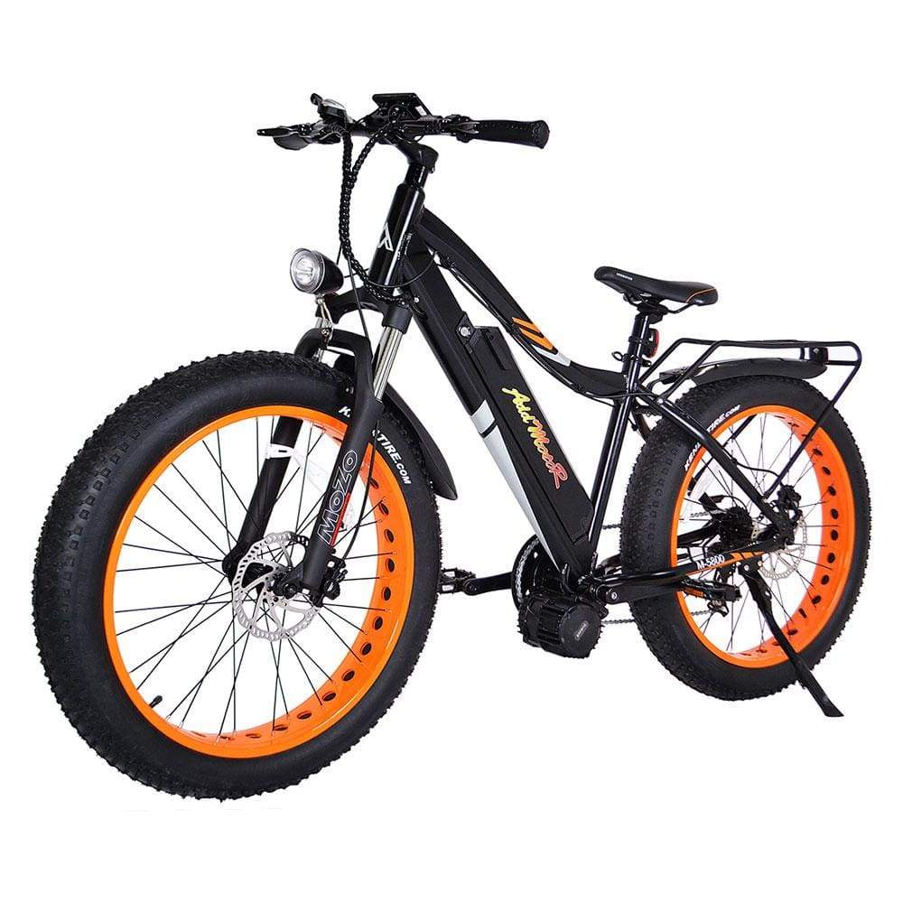 Fat Tire Ebike Addmotor Motan M-5800 1000W With Middle Motor - Orange Wheel - Electric Bike $2899.00