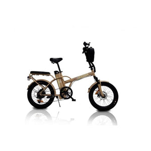 Affordable Cruiser Electric Bike GreenBike JAGER DUNE 350W 36V - Desert Brown - electric bike