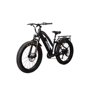BAKCOU Flatlander ST Step Through Electric Hunting Bike - Black / 14.5 Ah (Included) - electric bike