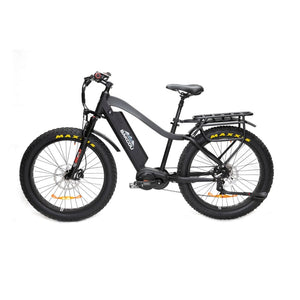 BAKCOU Mule Elite Electric Hunting Bike (750W / 1000W) - 750W (17 Frame) / Black / 14.5 Ah (Included) - electric bike