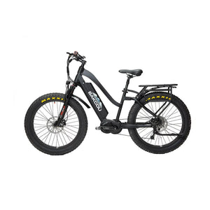 BAKCOU Mule ST Step Through Electric Hunting Bike - 24 (750W) / 14.5 Ah (Included) / Black - electric bike