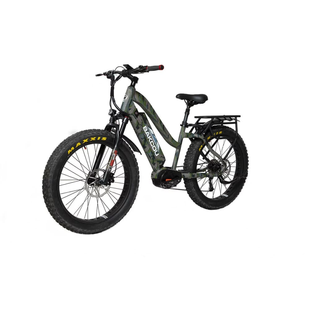 BAKCOU Mule ST Step Through Electric Hunting Bike - 24 (750W) / 14.5 Ah (Included) / Kuiu Verde Camo - electric bike