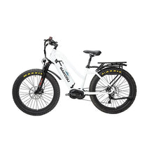 BAKCOU Mule ST Step Through Electric Hunting Bike - 24 (750W) / 14.5 Ah (Included) / White - electric bike