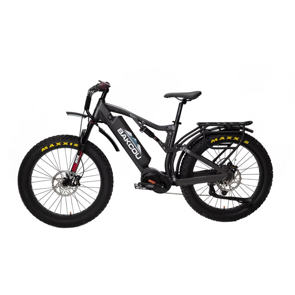 BAKCOU Storm G2 Electric Hunting Bike (750W / 1000W) - 750W (19 Frame) / 17.4 Ah (Included) / Black - electric bike