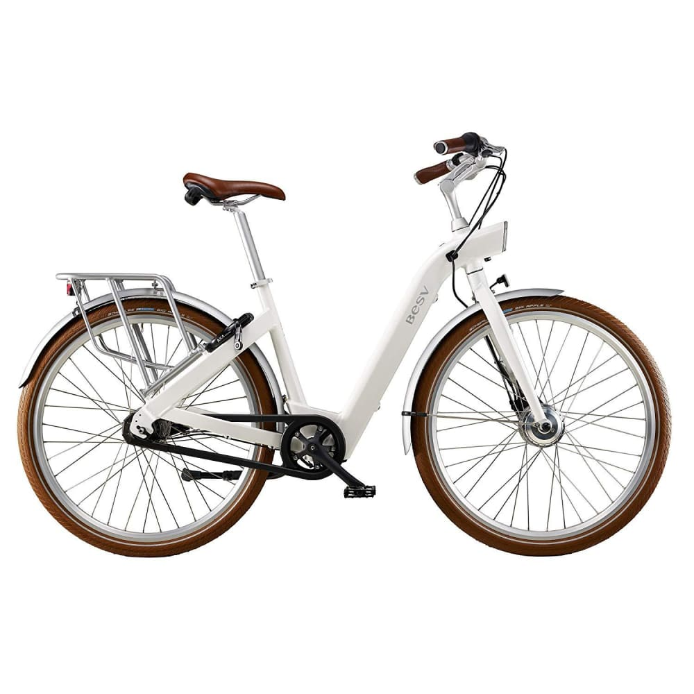BESV CF1 700c Cruiser Electric Bicycle Step Through 250W - White - electric bike