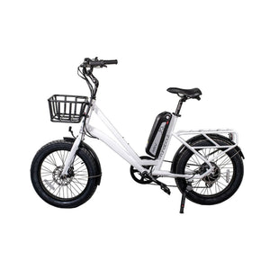 Cruiser Electric Bike Civi Bikes RUNABOUT 48V 500 Watt - Pearl White - electric bike