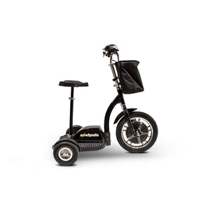 E Wheels EW-18 Compact Mobility Scooter - Stand-N-Ride - Black - mobility scooter