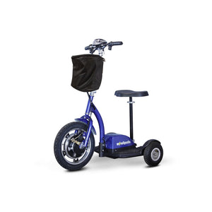 E Wheels EW-18 Compact Mobility Scooter - Stand-N-Ride - Blue - mobility scooter