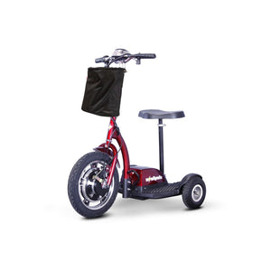 E Wheels EW-18 Compact Mobility Scooter - Stand-N-Ride - Red - mobility scooter