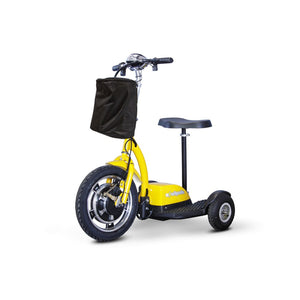 E Wheels EW-18 Compact Mobility Scooter - Stand-N-Ride - Yellow - mobility scooter