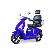 E Wheels EW-36 Elite Powerful Three-Wheel Mobility Scooter - Blue - mobility scooter