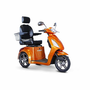E Wheels EW-36 Elite Powerful Three-Wheel Mobility Scooter - Orange - mobility scooter