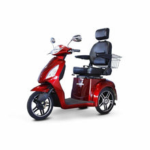 E Wheels EW-36 Elite Powerful Three-Wheel Mobility Scooter - Red - mobility scooter