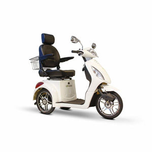 E Wheels EW-36 Elite Powerful Three-Wheel Mobility Scooter - White - mobility scooter