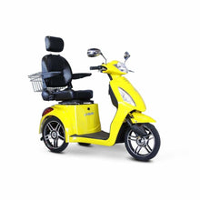 E Wheels EW-36 Elite Powerful Three-Wheel Mobility Scooter - Yellow - mobility scooter