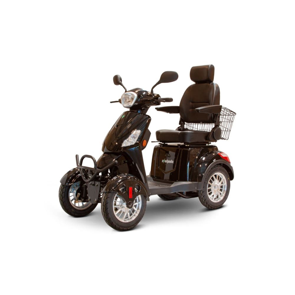 E Wheels EW-46 Long Range Full Suspension Mobility Scooter - Black - mobility scooter