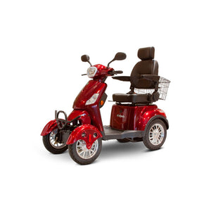 E Wheels EW-46 Long Range Full Suspension Mobility Scooter - Red - mobility scooter