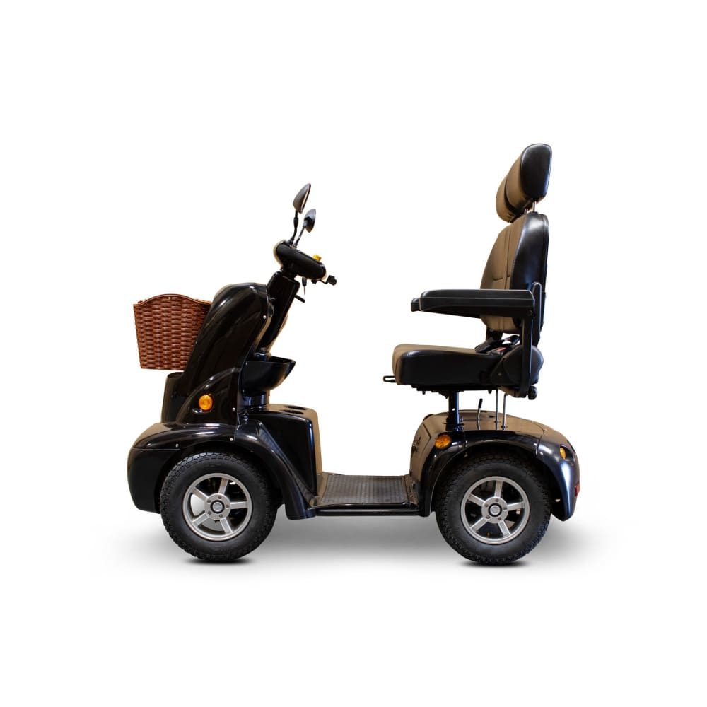 E Wheels EW-88 Luxury 4 Wheel Double Seat Mobility Scooter - Black - mobility scooter