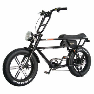 Electric Bike Beach Cruiser Addmotor MOTAN M-70 750 W Retro Mini Motorbike - Black - electric bike
