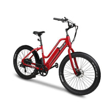 Electric Bike Beach Cruiser EMOJO Panther 500 Watt 48V - Matte Red - electric bike
