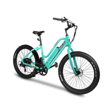 Electric Bike Beach Cruiser EMOJO Panther 500 Watt 48V - Teal Green - electric bike
