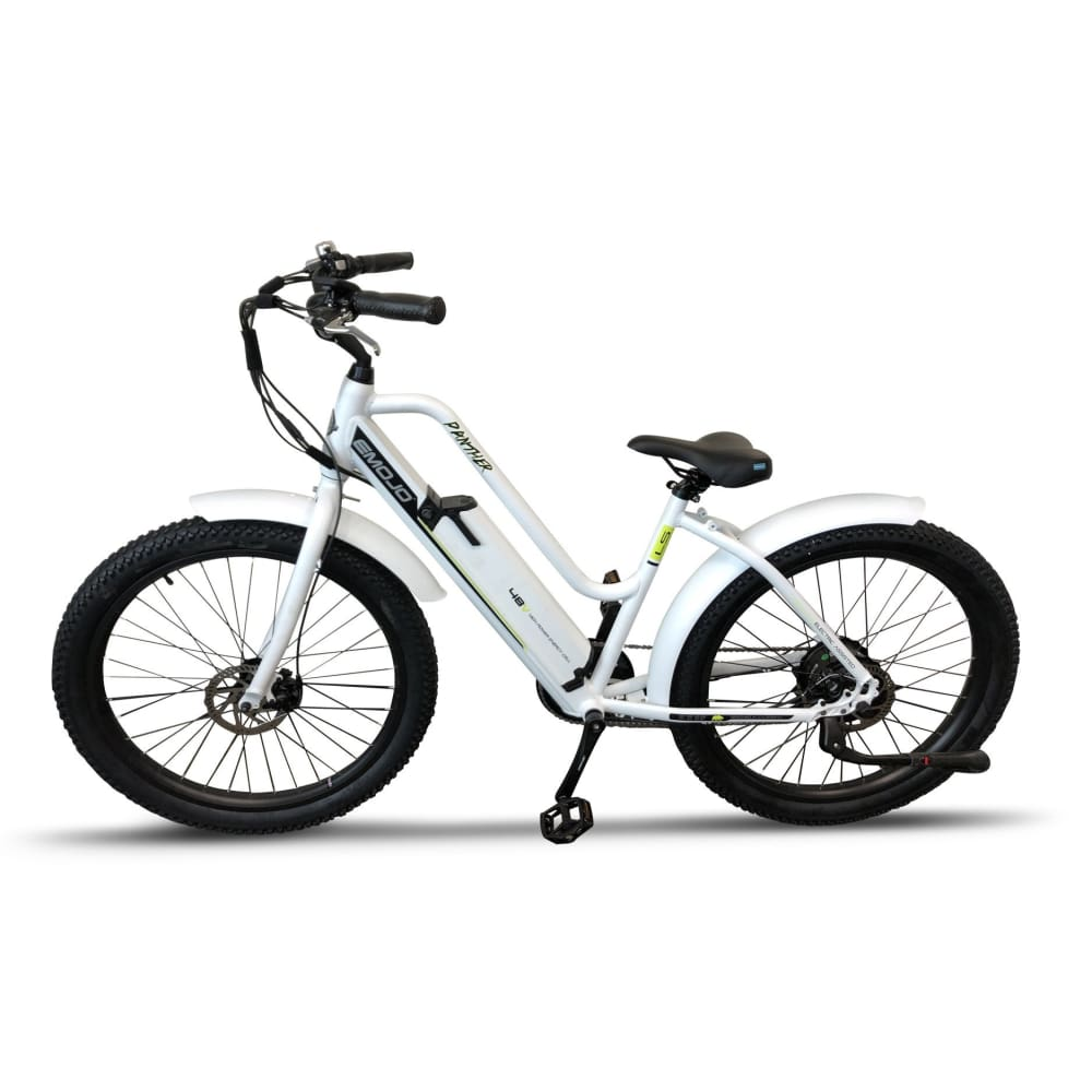 Electric Bike Beach Cruiser EMOJO Panther 500 Watt 48V - White - electric bike