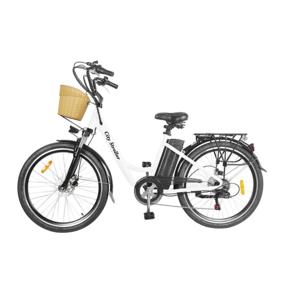 Electric Cruiser Bike NAKTO Strollor 250W 36V 12Ah - Red / White - electric bike
