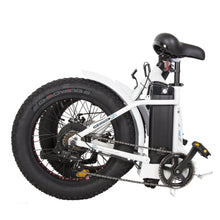 Electric Fat Bike - Ecotric Dolphin Folding Electric Bike - 36V 500W (Black / White) - electric bike