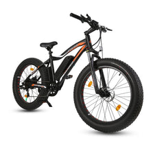 Electric Fat Bike Ecotric Rocket Cruiser Bike with Front Suspension - Black - electric bike