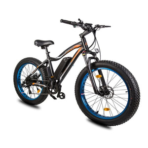 Electric Fat Bike Ecotric Rocket Cruiser Bike with Front Suspension - Blue - electric bike