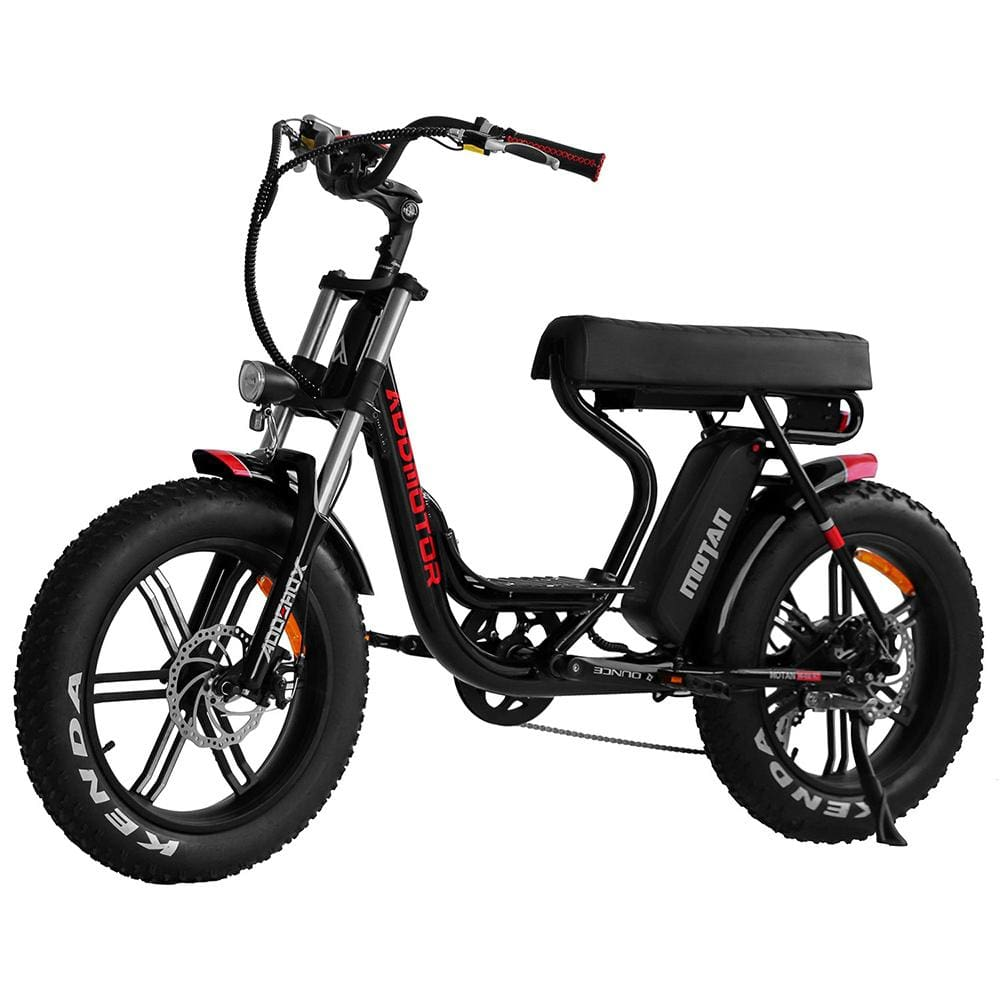Electric Fat Bike Mini Moped Addmotor MOTAN M-66 R7 Step-Thru - Black - electric bike