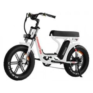 Electric Fat Bike Mini Moped Addmotor MOTAN M-66 R7 Step-Thru - White - electric bike