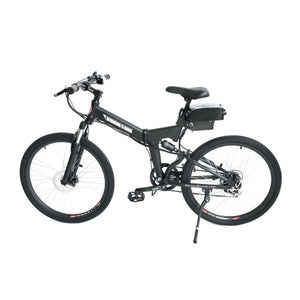 Electric Folding Bike X-Treme XC-36 36V 350W - Full Suspension Electric Bike - Black - electric bike