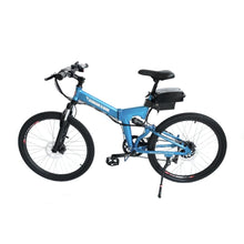 Electric Folding Bike X-Treme XC-36 36V 350W - Full Suspension Electric Bike - Metallic Blue - electric bike