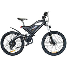 Electric Mountain Bike Addmotor HITHOT H5 500W High Fork Full Suspension - Black - electric bike