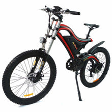 Electric Mountain Bike Addmotor HITHOT H5 500W High Fork Full Suspension - Red - electric bike